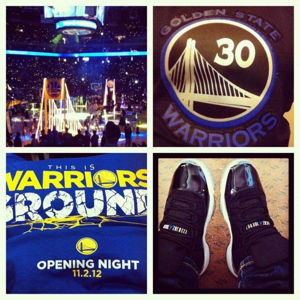 @stephannphan25: Warriors opening night with hubby @marcosjrod ❤ #spacejams #warriorsground #femalesneakerhead #solenationnba #chickswithkicks #sole_on_fire