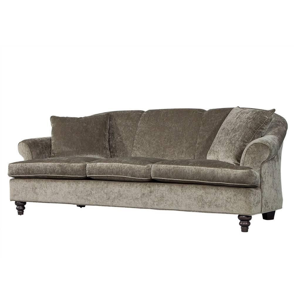 Custom Rolled Back Sofa In Grey Chenille See More Antique And Modern Sofas At Https