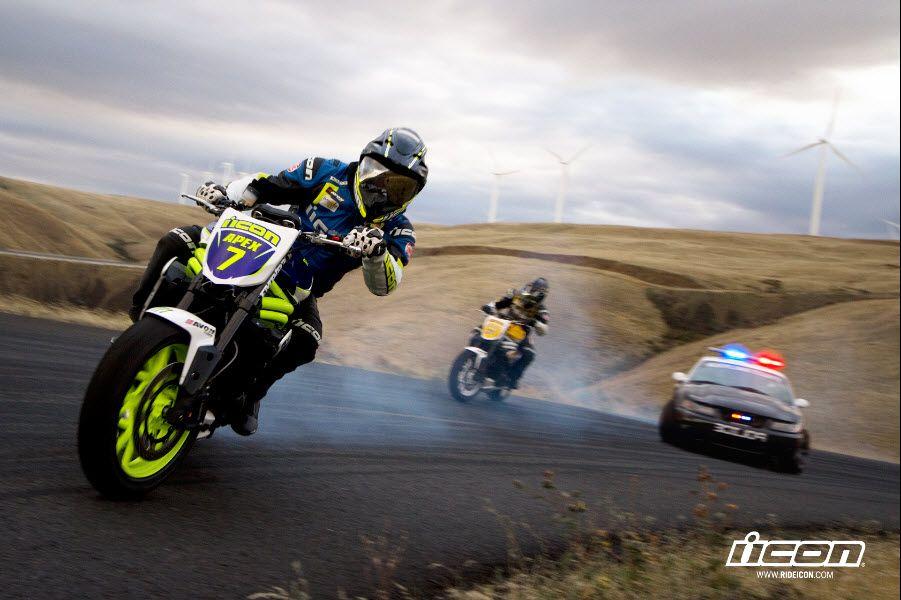 Motorcycle Drift Triumph Speed Triple Vs Ford Mustang Cobra