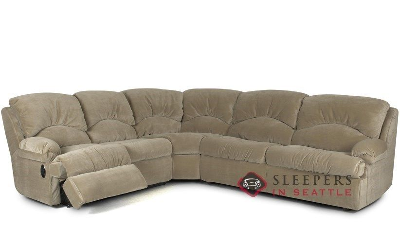 Savvy Milan 3 Piece Reclining True Sectional Sleeper So Comfy And Cozy Customize It Sectional Sleeper Sofa Sleeper Sofa Sectional