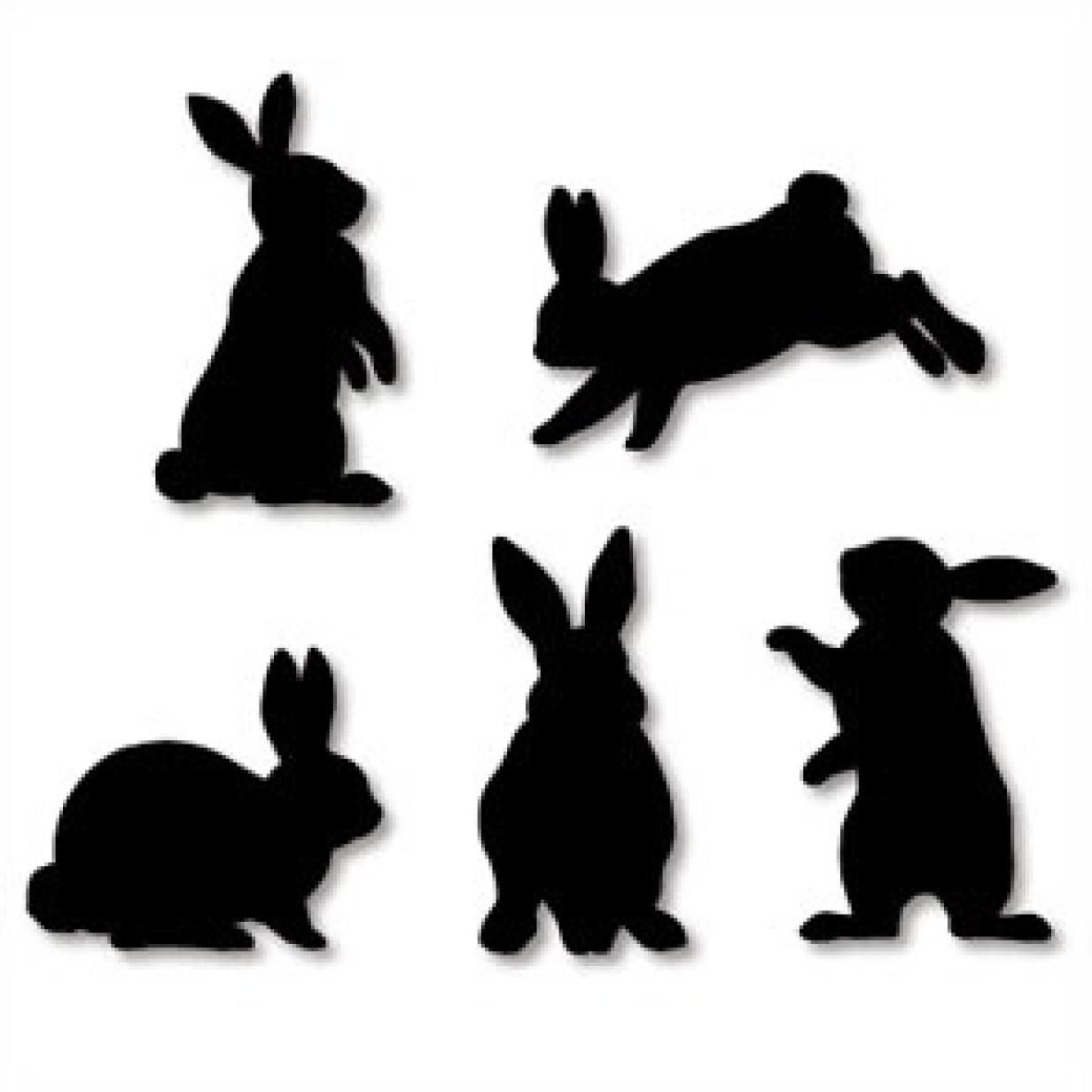 Wall Decorations Rabbit Home And Living Paper Craft Rabbit Silhouette Decoration Purple Cream