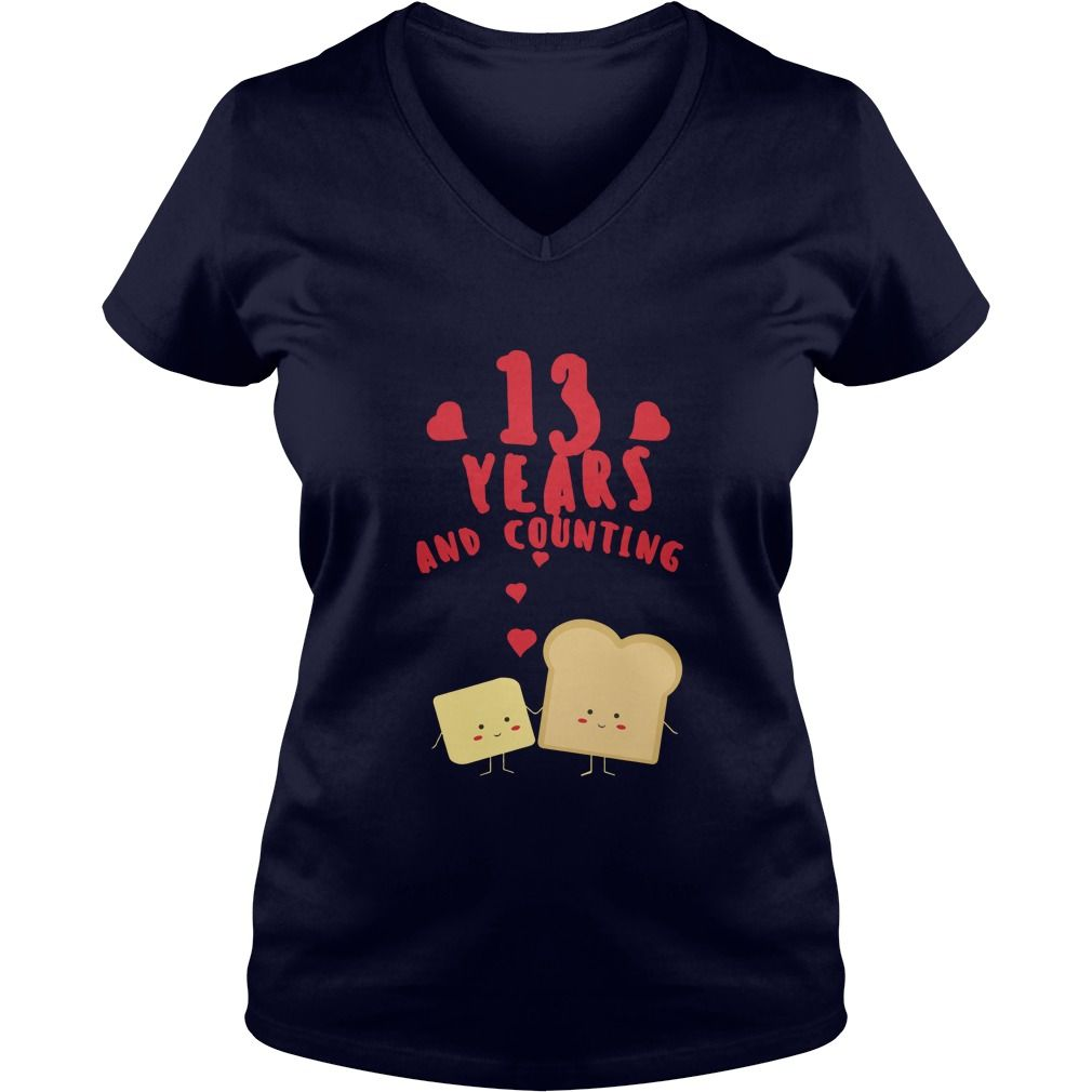 Awesome T-Shirt For Husband And Wife. 13th Wedding Anniversary Gift ...