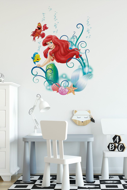 Adesivi Murali Principesse Disney.Adesivo Murale Per Bambini La Sirenetta Ariel Idee Per Camerette