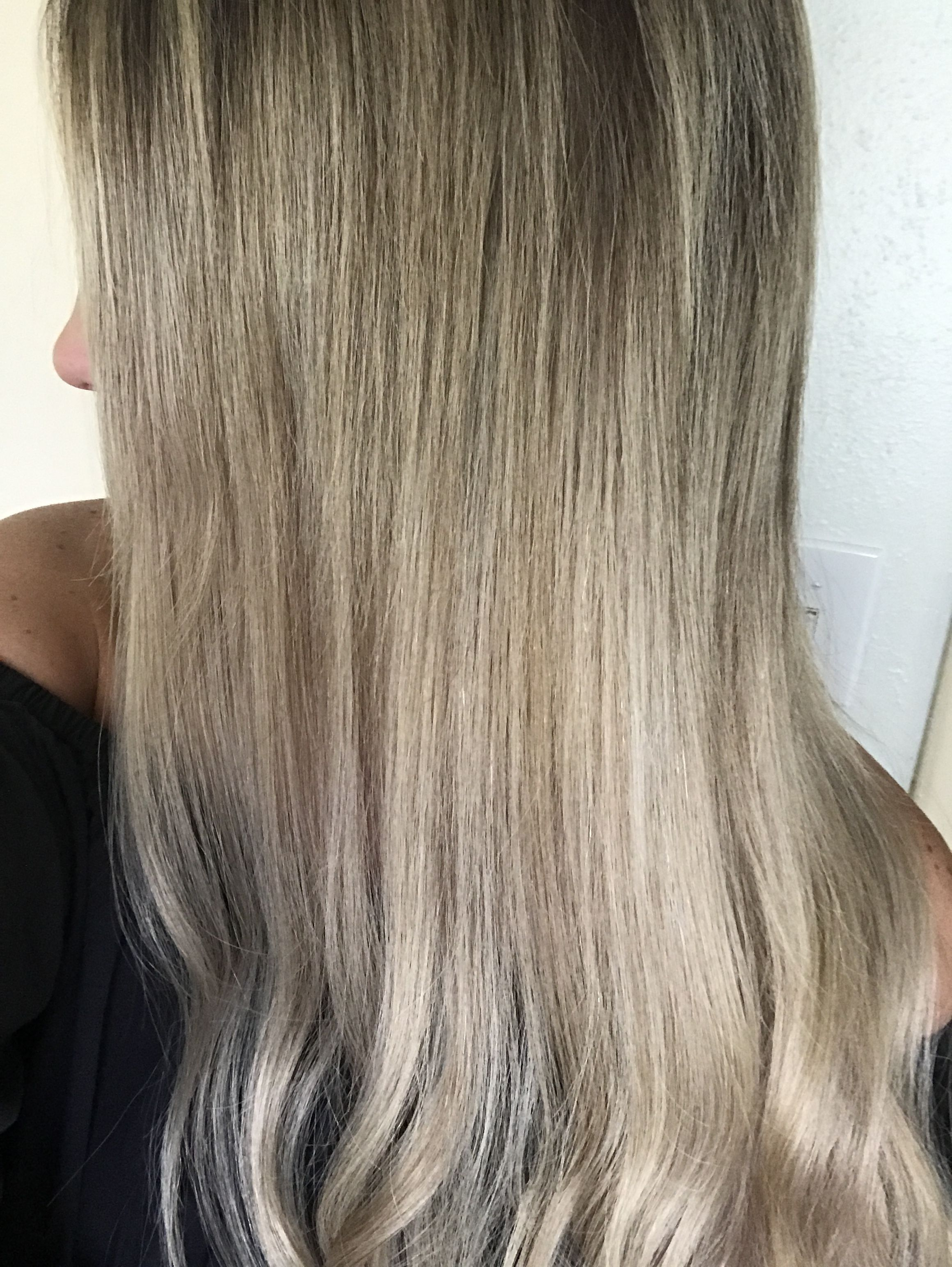Ash Blonde Hair Laced Hair Extensions 1822 Washed With Purple