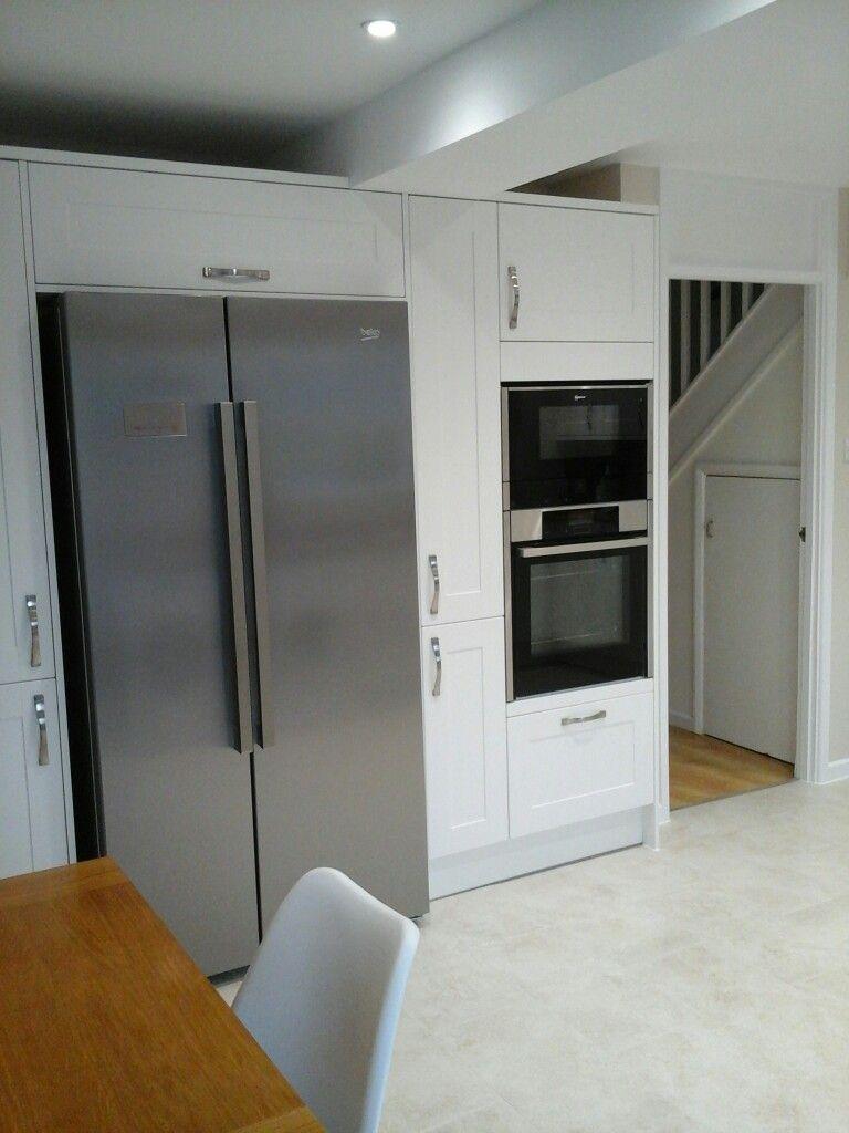 American Fridge Freezer With Larder Units Snd Oven Microwave Tower