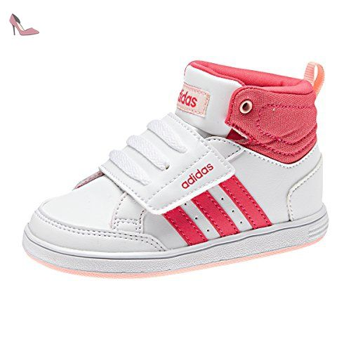 Adidas B74660 Sneakers Fille Cuir Synthetique Blanc Blanc 27