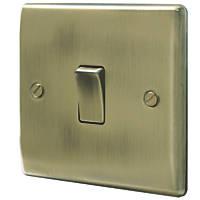 British General Nexus Metal 10ax 1 Gang 2 Way Light Switch Antique Brass Antique Brass Light Switch Wiring Antiques