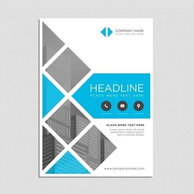 Page De Garde Business Poster Corporate Brochure Design