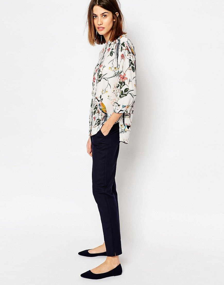 e41ffa2dd Image 4 of Warehouse Floral Bird Print Blouse | Wear | Printed ...