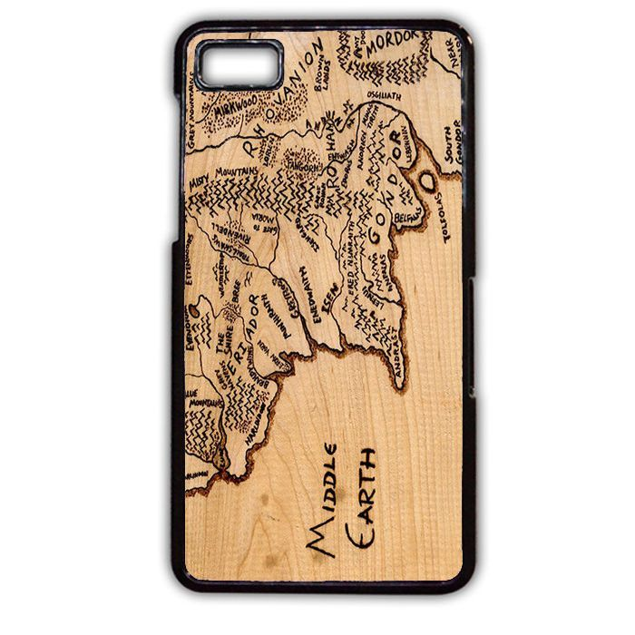 The Hobbit And Lord Of The Ring Middle Earth Map Wood TATUM-10757 Blackberry Phonecase Cover For Blackberry Q10, Blackberry Z10
