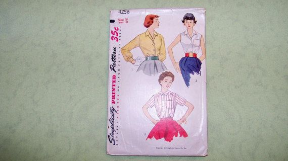 Vintage Simplicity Pattern  4256  Blouse   Size 16 by DellaNora