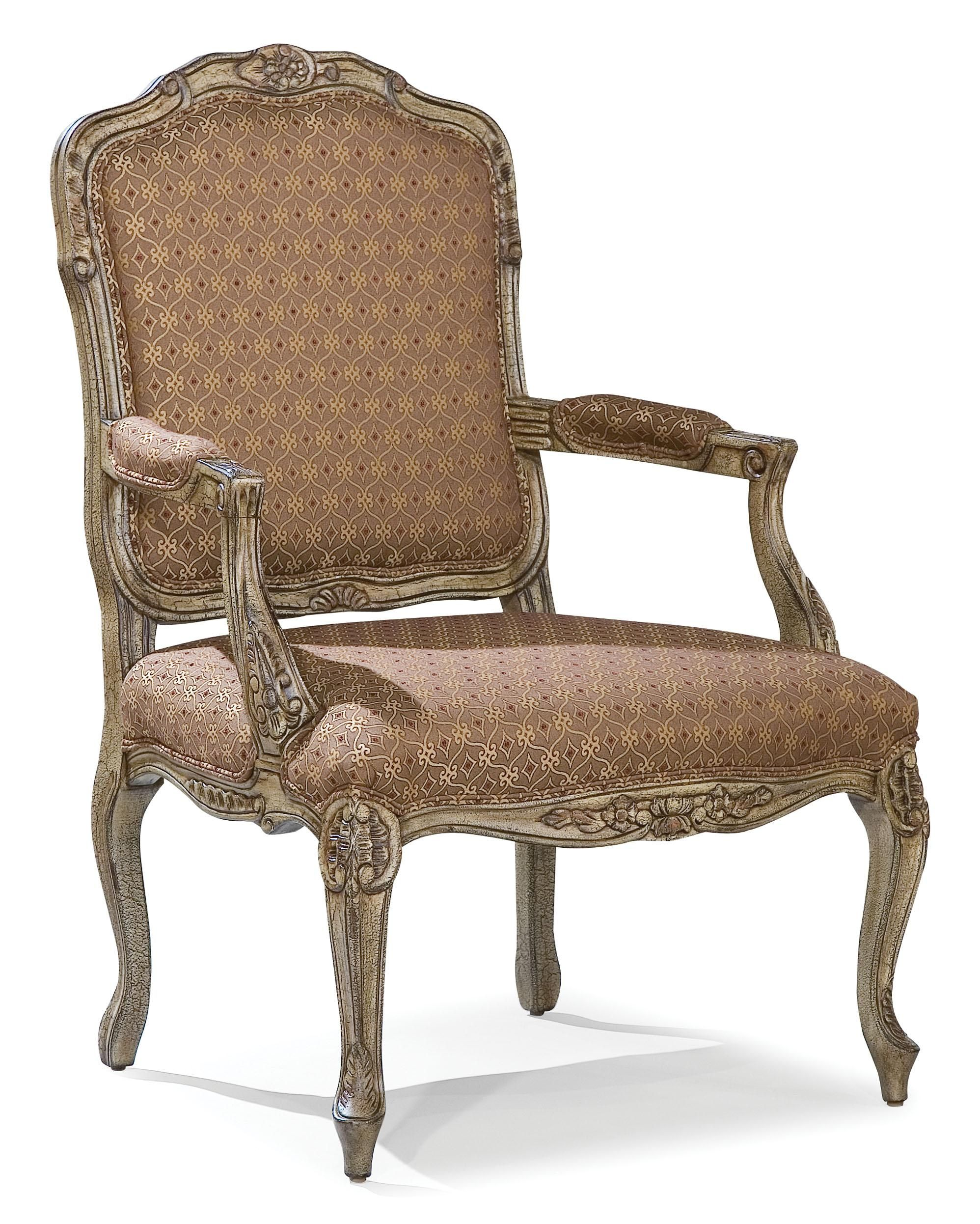 Fairfield Chairs Chairs Intricately Carved Accent Chair By Fairfield Living Room