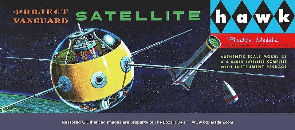 1958 Hawk Project Vanguard Satellite model kit | The Boxart Den