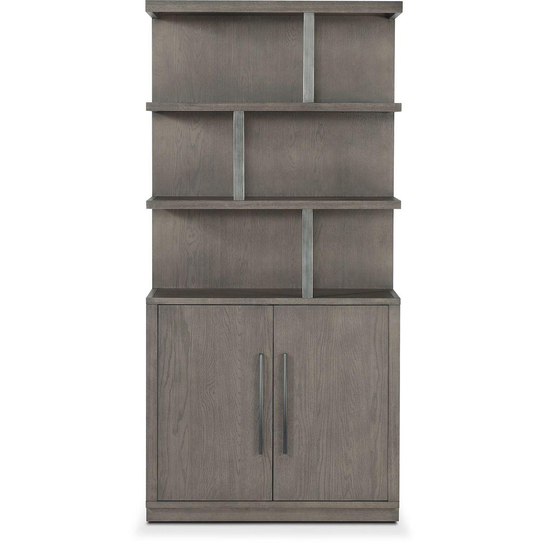 Malibu Open Display Cabinet Gray Value City Furniture And Mattresses Value City Furniture City Furniture Furniture Search