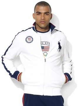 Ralph Lauren Team USA Olympic Full-Zip Stretch Mesh Jacket