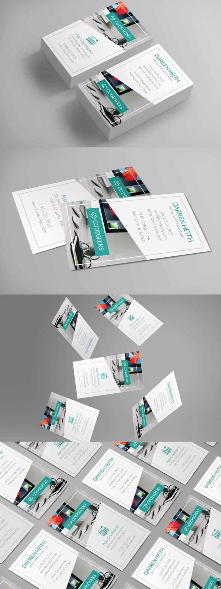 Corporate business card business card dimensions cool