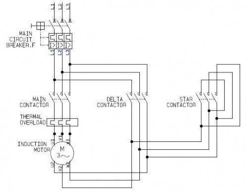 Using Star Delta Motor Control With Circuit Diagrams Circuit Diagram Electrical Circuit Diagram Motor