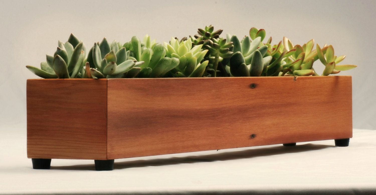 Modern Wood Planter In Reclaimed Cedar Modern Planter Box By