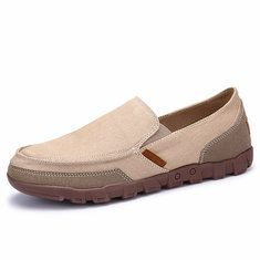 22e2c0aaf37 Large Size Men Hand Stitching Soft Doug Shoes Slip On Leather Loafers -  NewChic Mobile