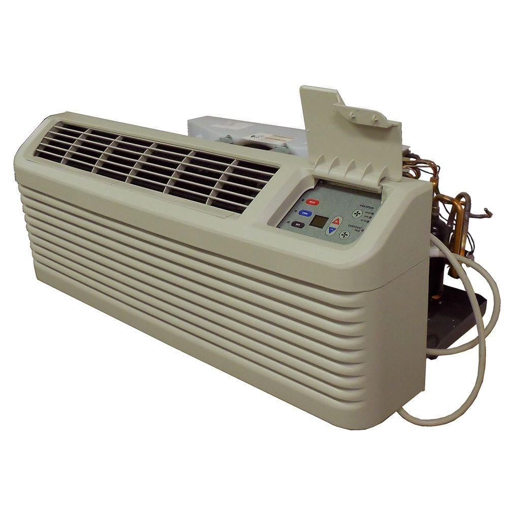 Amana 12 000 Btu R 410a Packaged Terminal Heat Pump Air Conditioner 5 0 Kw Electric Heat 230 Volt Beige Bisque Heat Pump Air Conditioner Air Conditioner With Heater Heating Cooling Units