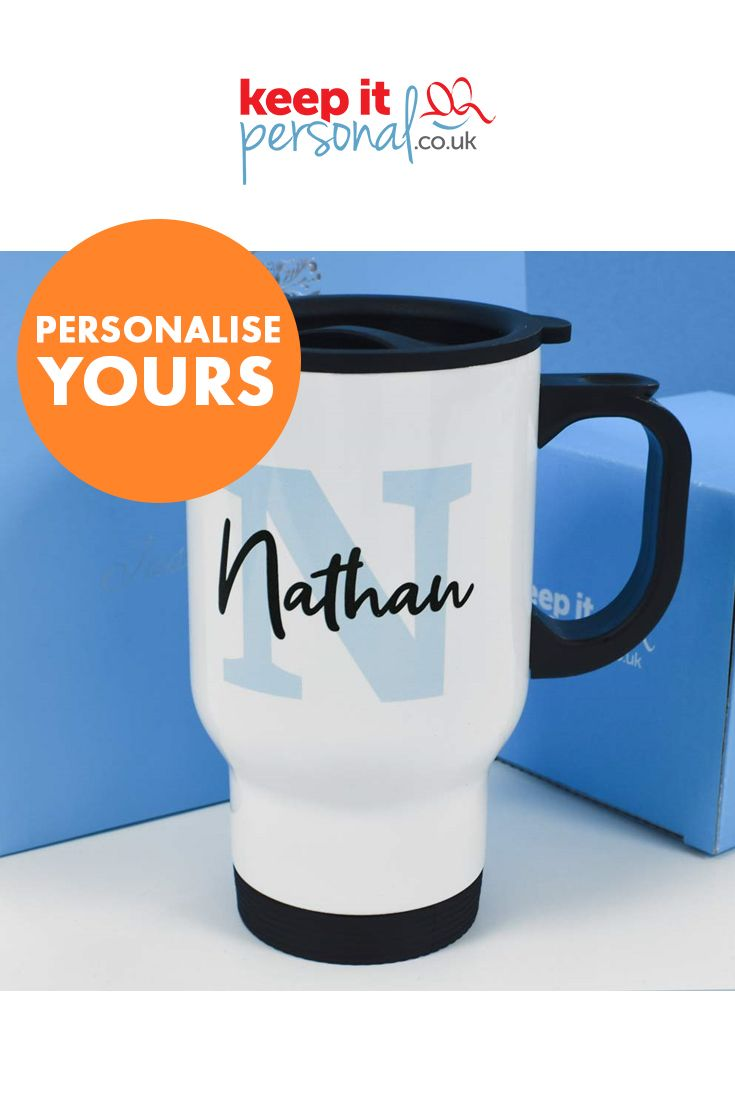 Personalised 14oz Travel Mug Any Name And Initial In 2019