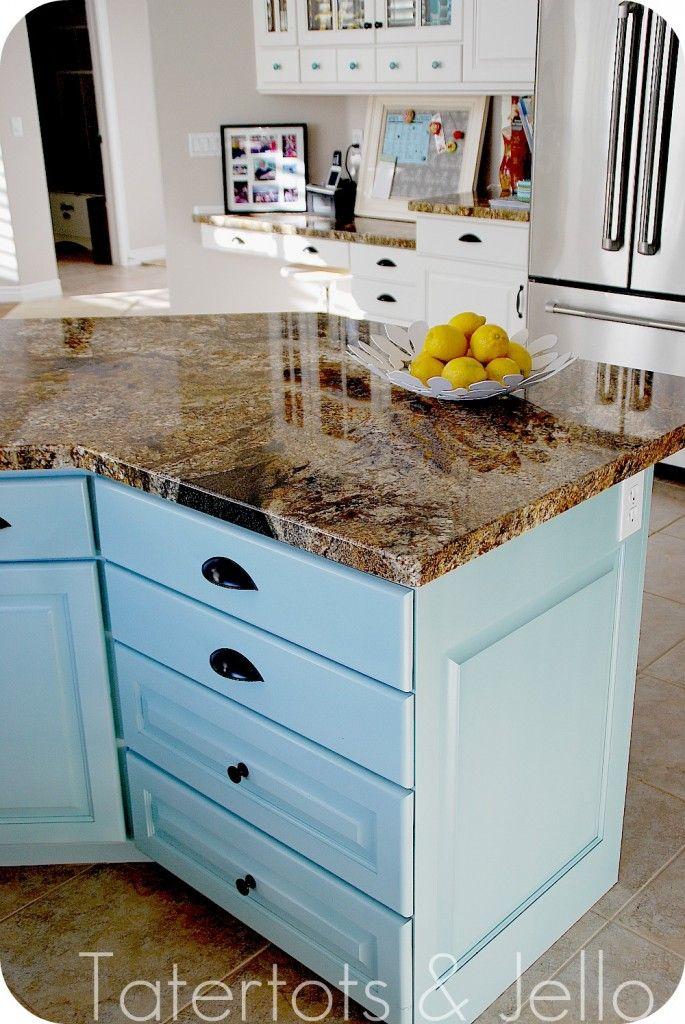 Aqua and White Kitchen Reveal | Aqua kitchen, Kitchen ...