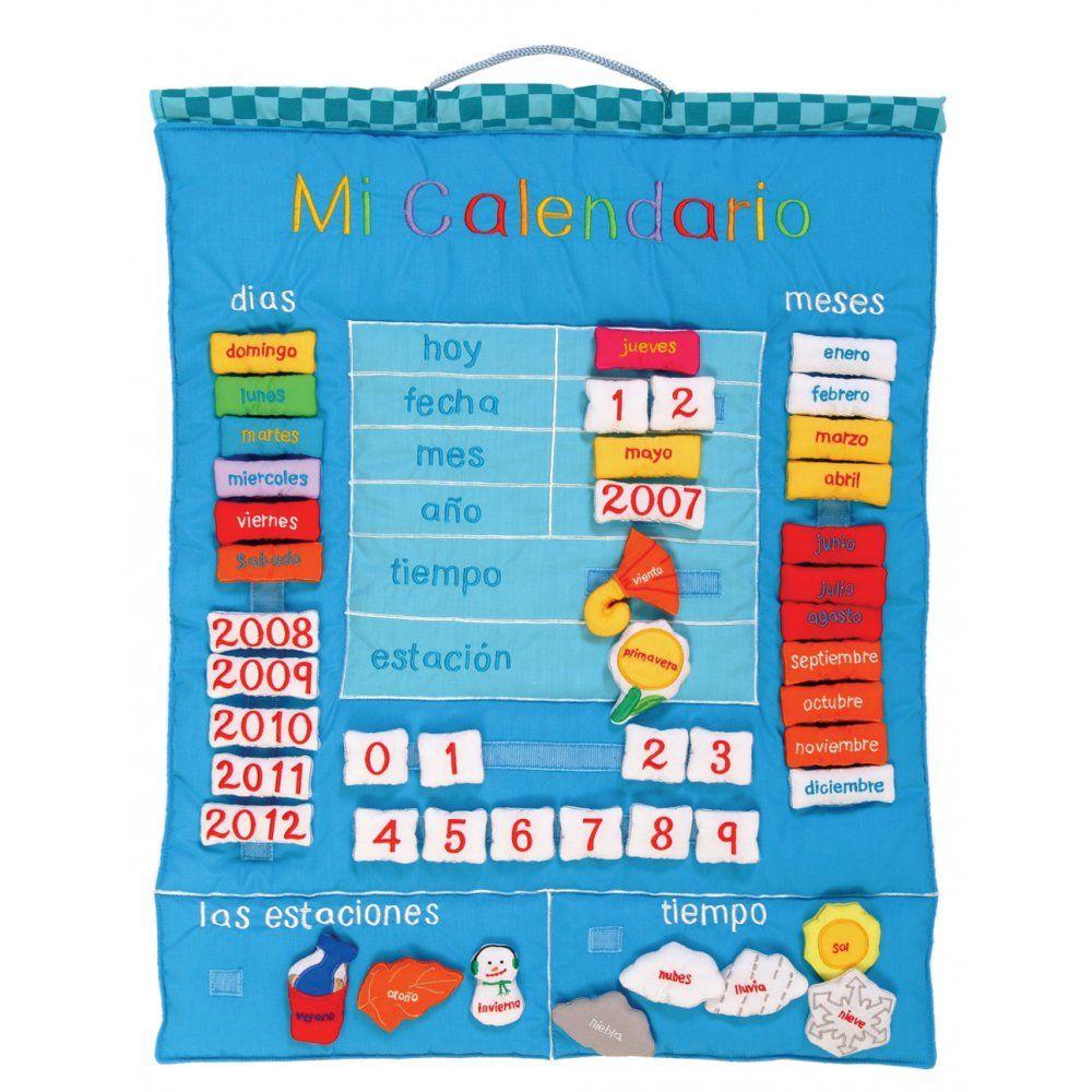 mi calendario | Mi Calendario Spanish Wall Hanging Calendar