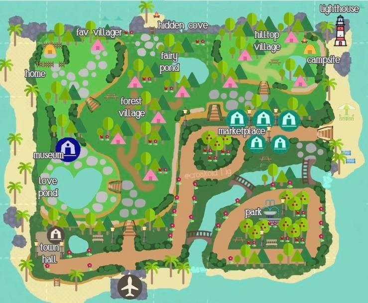 My 4th Map Design Ac Newhorizons Animal Crossing Animal Crossing 3ds New Animal Crossing
