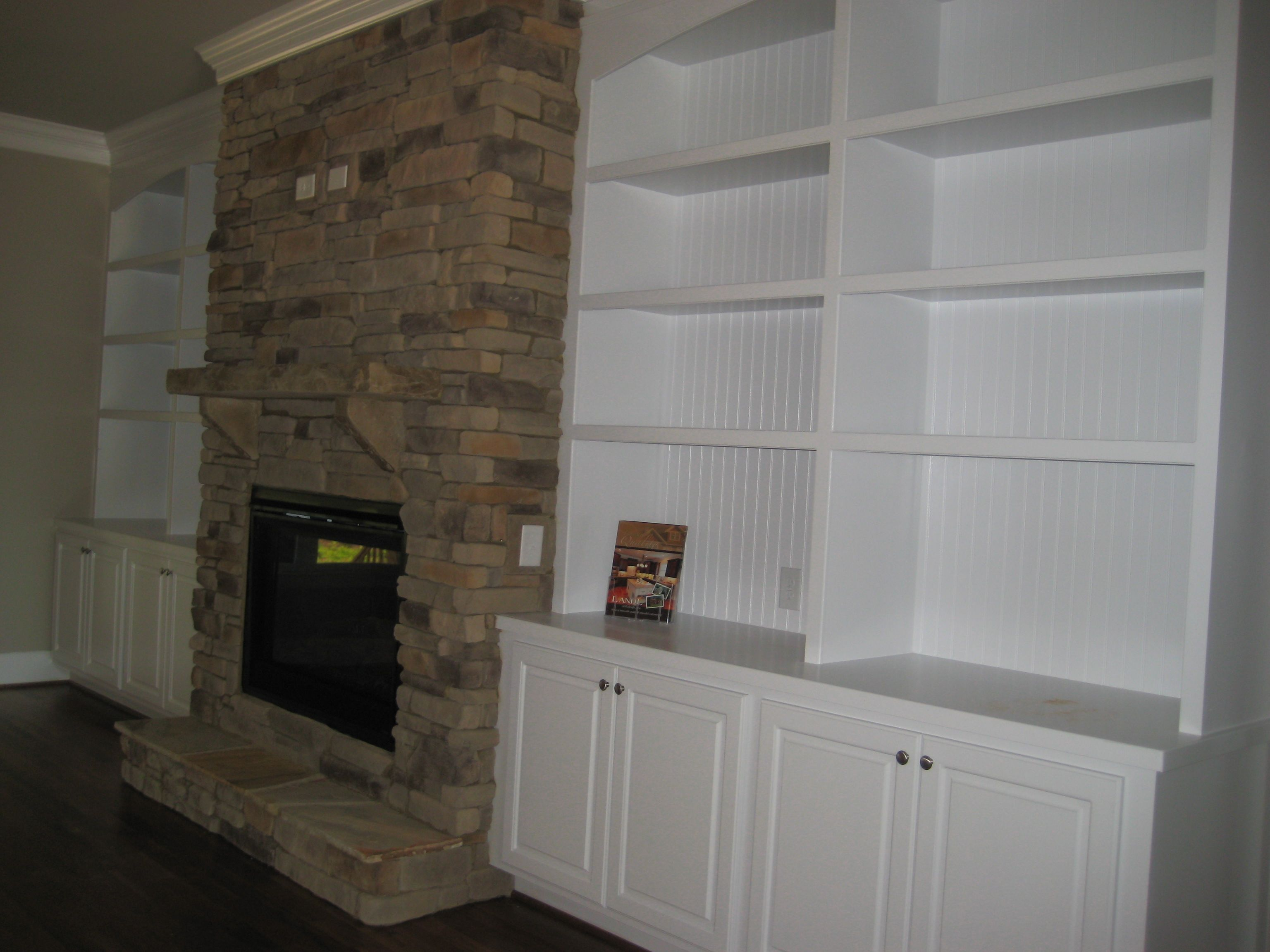 Fireplace with built in bookcase design lot madison ii plan