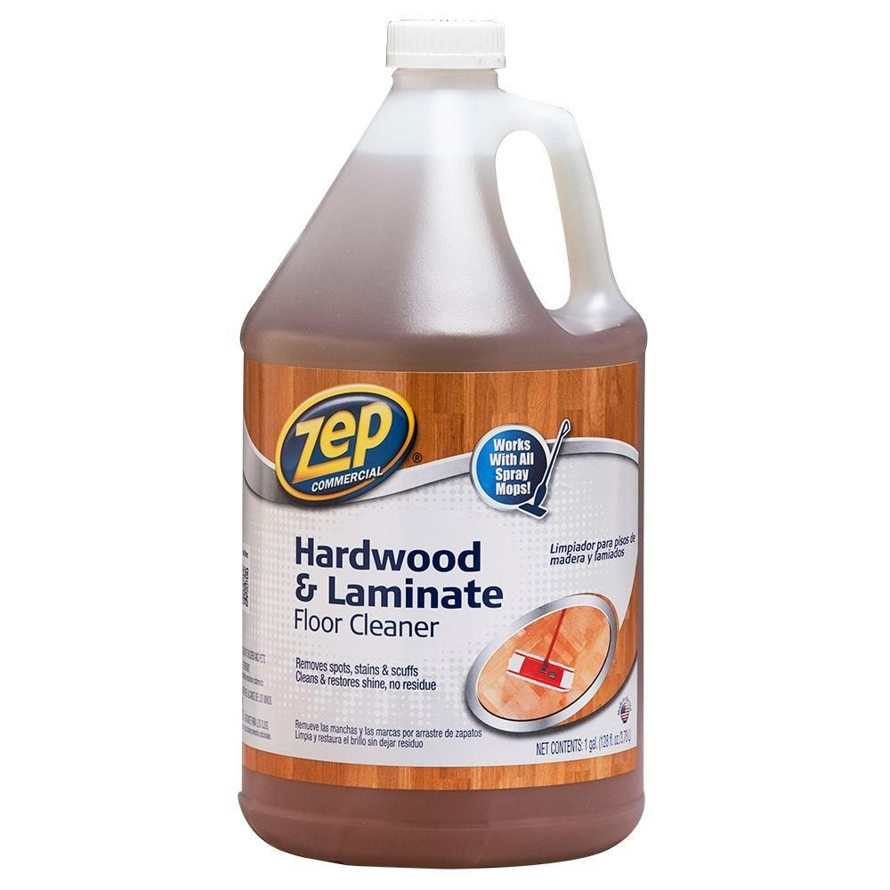Zep 1 Gallon Hardwood And Laminate Floor Cleaner Case Of 4 Zuhlf128 The Home Depot Cleaning Laminate Wood Floors How To Clean Laminate Flooring Floor Cleaner