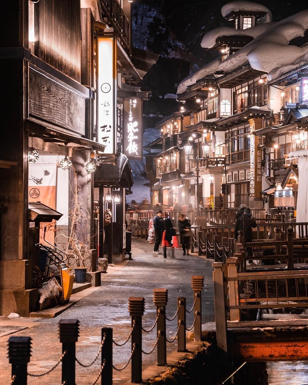 Winter Night Ginzan Onsen Yamagata Prefecture Japan 冬の夜 山形県銀山温泉 By Kazuma 24 Kazumma527 On Instagram 日本旅行 銀山温泉 温泉