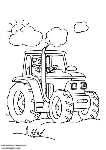 Coloring page tractor   Ava\'s First   Pinterest   Colores, Pintar y ...