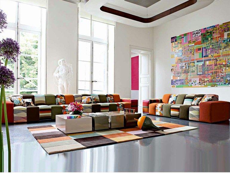 the joy of colors ... Modular sofa dressed in fabrics Missoni Home ...
