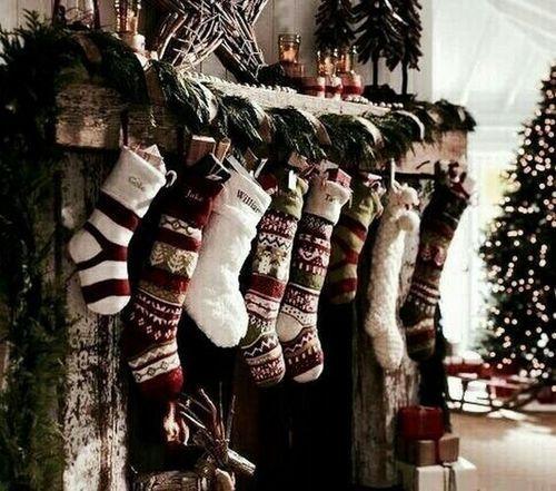 Photo of stockings, Christmas stockings, tumblr style, Christmas aesthetic, Christmas dec…