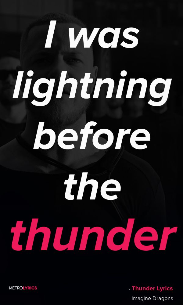 Imagine Dragons - Thunder Lyrics | | what's blaring in my earbuds ...