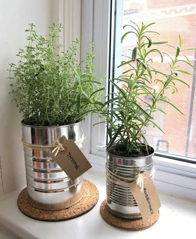 pots en alu pour herbes aromatiques - Planter Des Herbes Aromatiques En Jardiniere