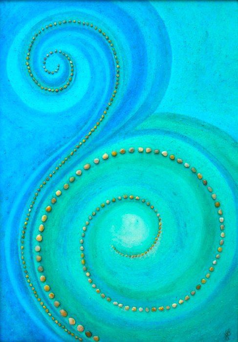 love the different shades of aqua