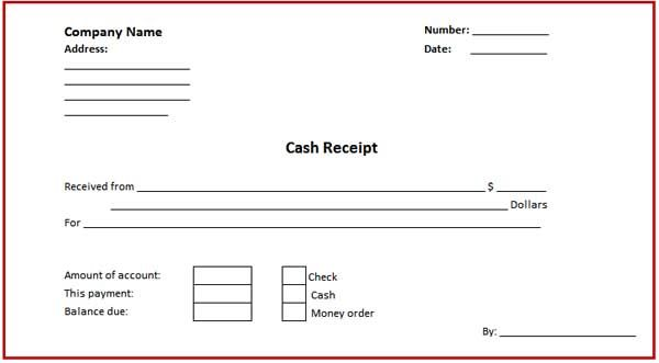 Download Free Cash Receipt Template  Certificate Templates
