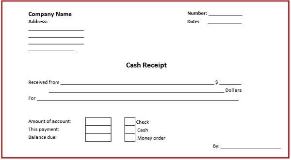 Doc600600 Money Receipt Format Download a Free Cash Receipt – Cash Receipt Word Template