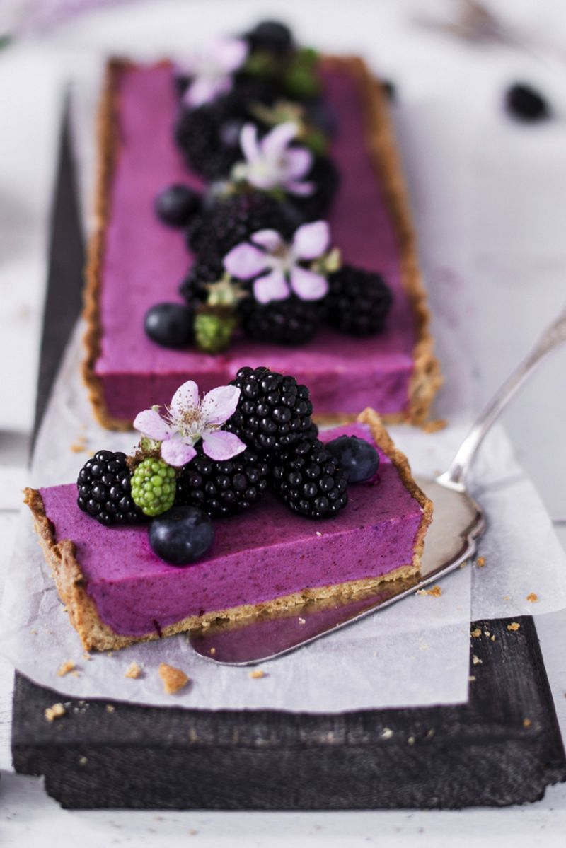 Brombeer-Mousse-Tarte mit Amarettini | Chefkoch #sweetpie