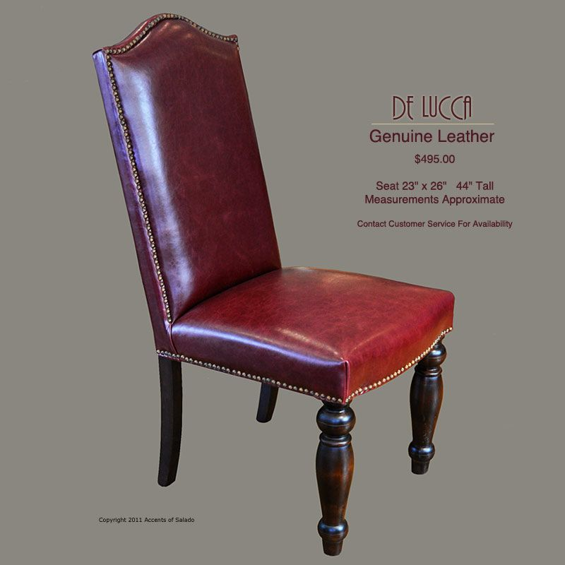 Red Leather Dining Chairs! So comfortable and beautiful! $495 | Home ...