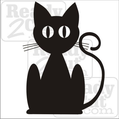 Black cat silhouette art vector download files silouettes black cat silhouette art vector download files pronofoot35fo Image collections
