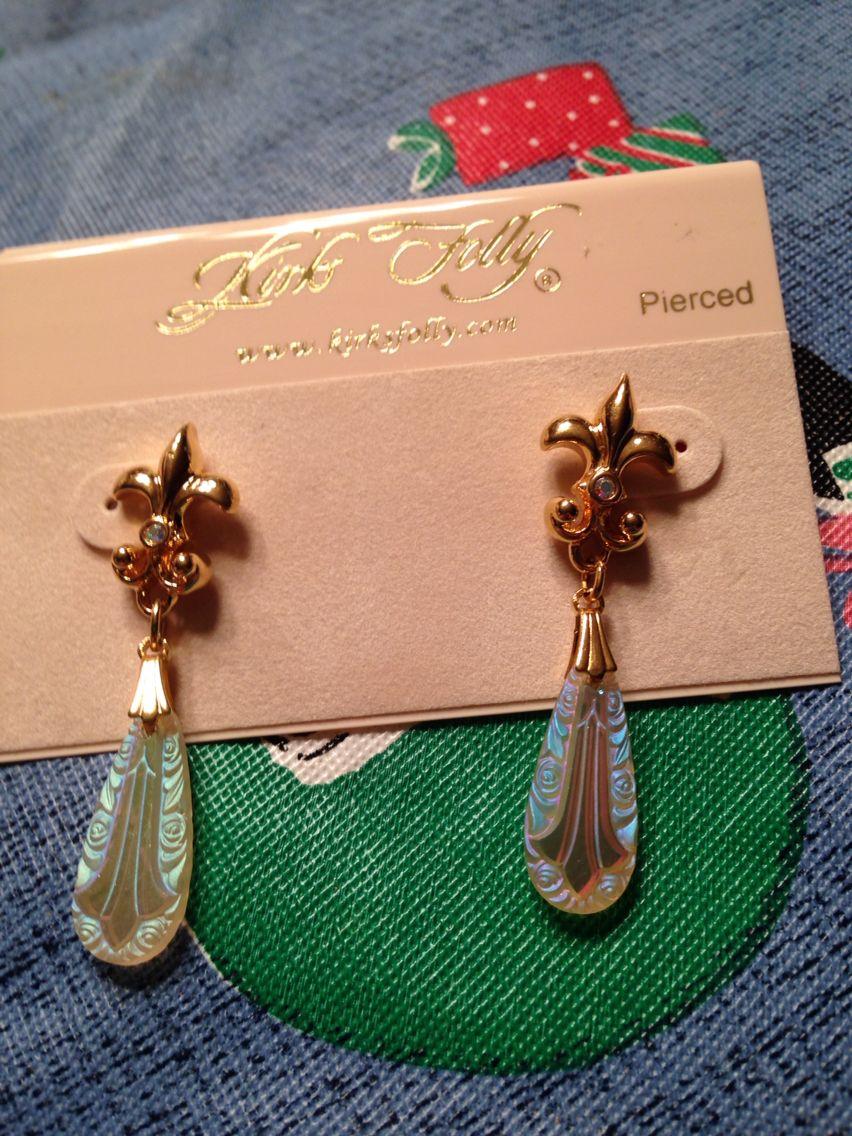 Kirks Folly Fleur De Lis Earrings