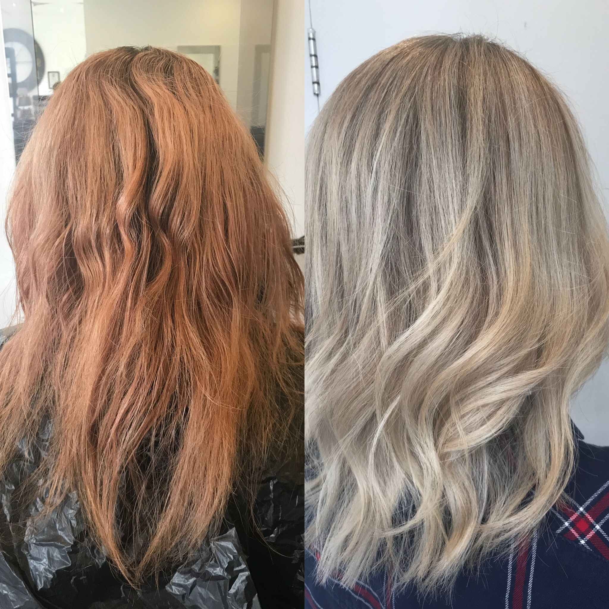 Transformation From Grown Out Ginger To Blonde Using Highlights
