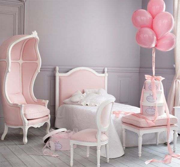 Decoration Chambre Deco Fille Chambre Rose Petite Fille La Deco B Ado Moderne Et Gris Ans 07091917 Chambre Little Girl Rooms Girl Room French Inspired Bedroom
