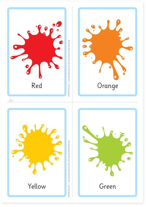 Free colour flashcards | Color flashcards, Flashcards for ...