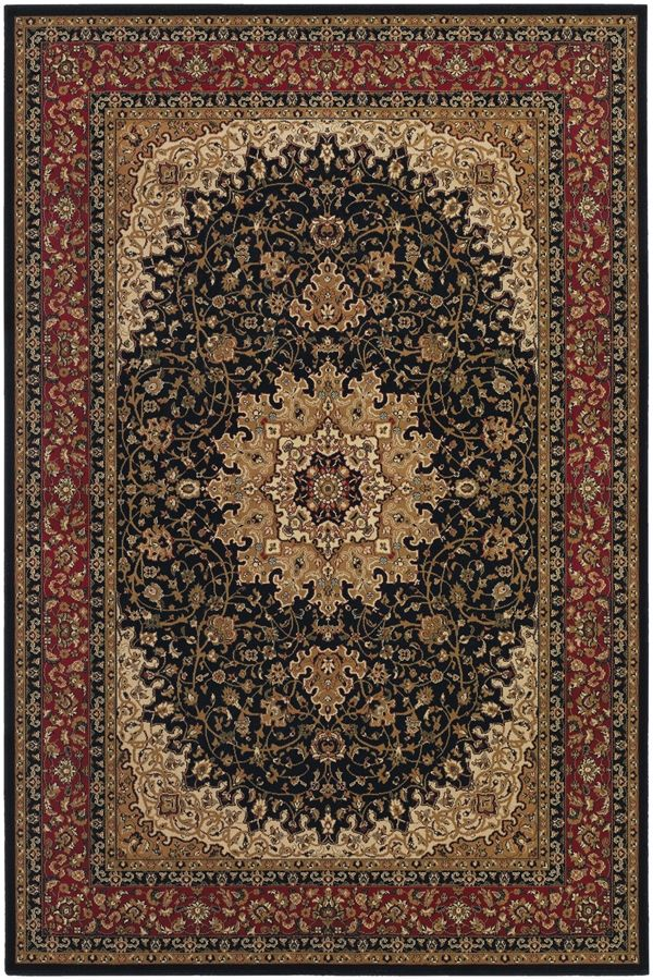 Couristan Izmir Royal Kashan Black 7010 1000 Area Rugs
