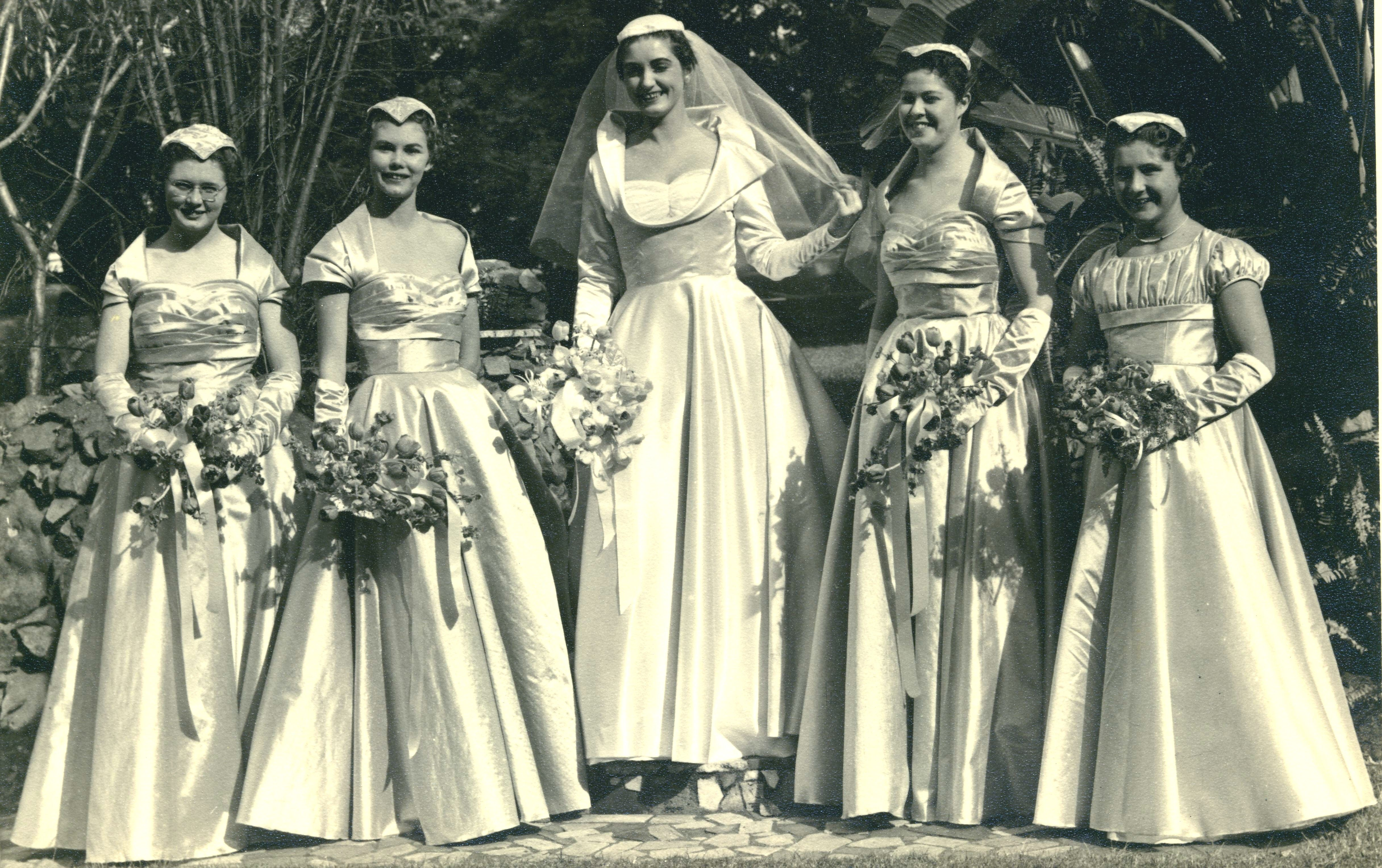 Trish and bridesmaids deeks tribe pinterest vintage weddings