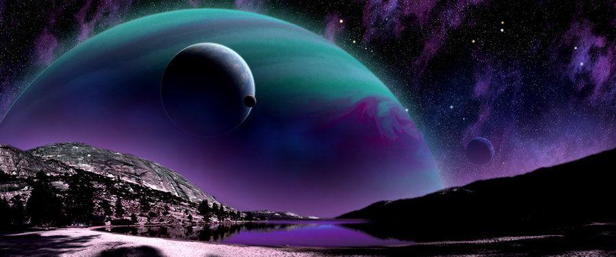 planetary landscape Exoplanet landscape by arhicks on