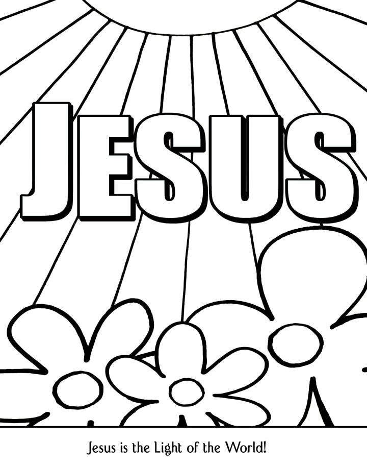 - Free Christian Coloring Poster Download! Use With Any Bible Lesson Or Just  As A Fun Act… Sunday School Coloring Pages, School Coloring Pages, Jesus Coloring  Pages
